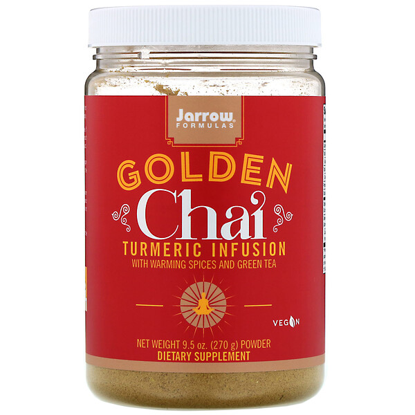 Jarrow Formulas, Golden Chai, Turmeric Infusion Powder, 9.5 oz (270 g) (Discontinued Item)