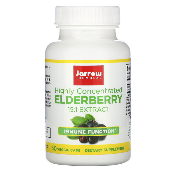 Highly Concentrated Elderberry Extract, 60 Veggie Caps