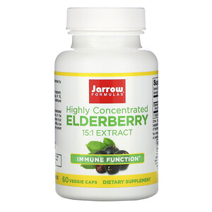 Jarrow Formulas, Highly Concentrated Elderberry Extract, 60 Veggie Caps