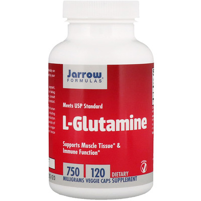 L-глутамин, 750 мг, 100 капсул