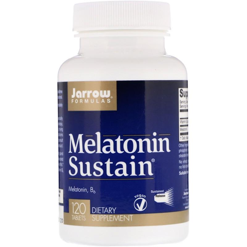 Jarrow Formulas, Sustain de melatonina, 120 tabletas
