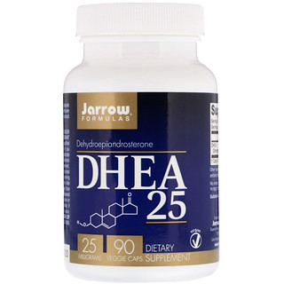 Jarrow Formulas, DHEA 25, 25 мг, 90 капсул