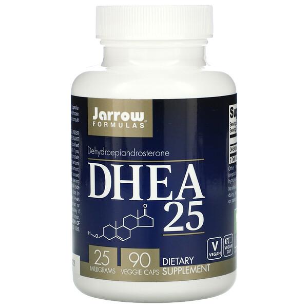 Jarrow Formulas, DHEA 25, 25 מ״ג, 90 כוסות מהצומח