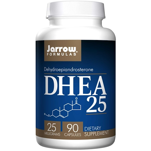 Jarrow Formulas, DHEA 25, 25 mg, 90 Capsules