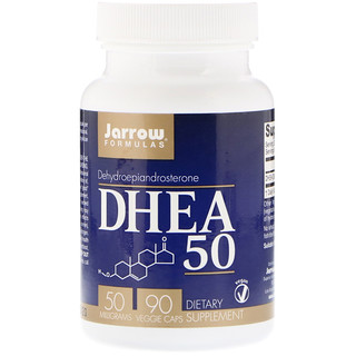 Jarrow Formulas, DHEA 50, 50 mg, 90 Veggie Caps