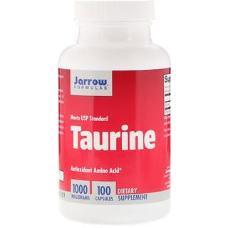 Jarrow Formulas, Taurina, 1000 mg, 100 Cápsulas