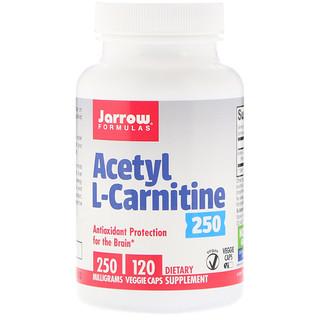 Jarrow Formulas, Acetyl L-Carnitine 250, 250 mg, 120 Veggie Caps