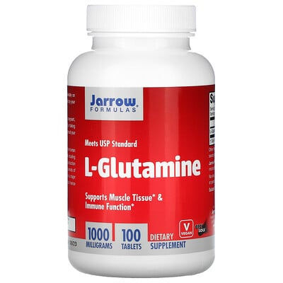 Jarrow Formulas L-глутамин, 1000мг, 100таблеток