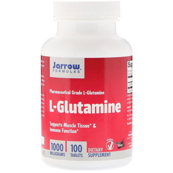 L-Glutamina, 1000 mg, 100 tabletas