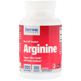 Jarrow Formulas, Arginine, 1000 mg, 100 Tablets