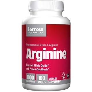 Jarrow Formulas, Arginina, 1000 mg, 100 Tabletas