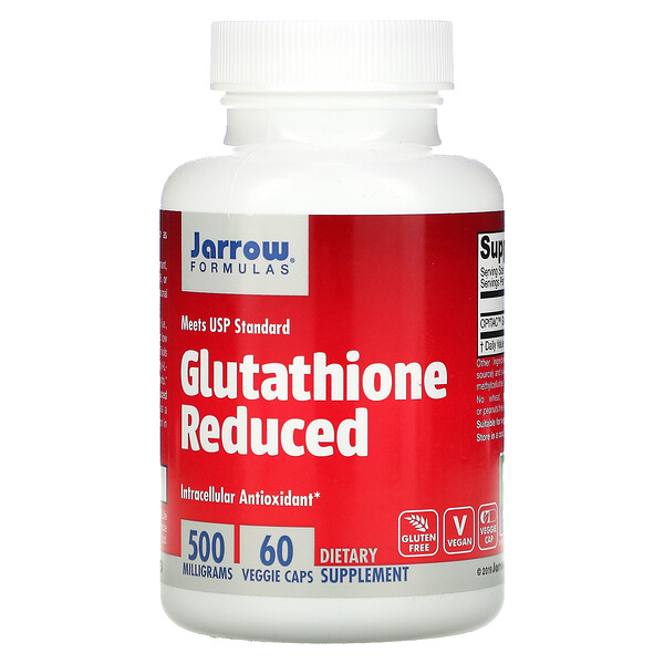 Glutathione Reduced, 500 mg, 60 Veggie Caps
