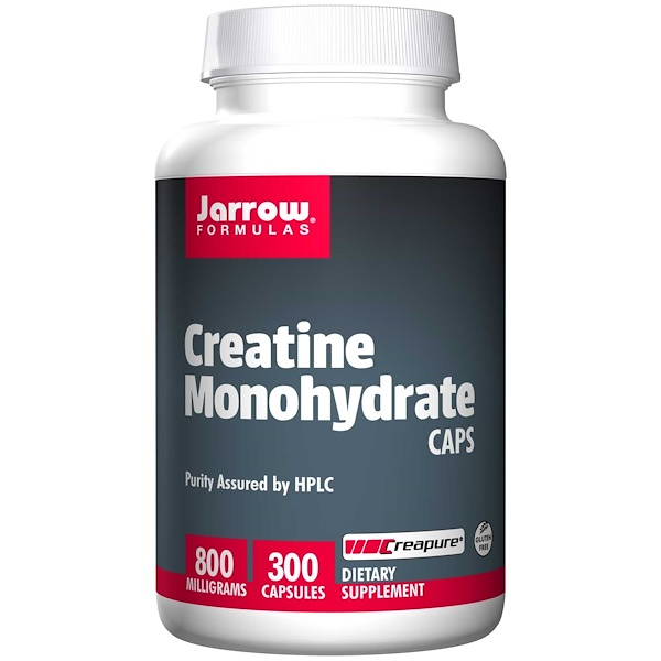 Jarrow Formulas, Creatine Monohydrate Caps, 800 mg, 300 Capsules (Discontinued Item)