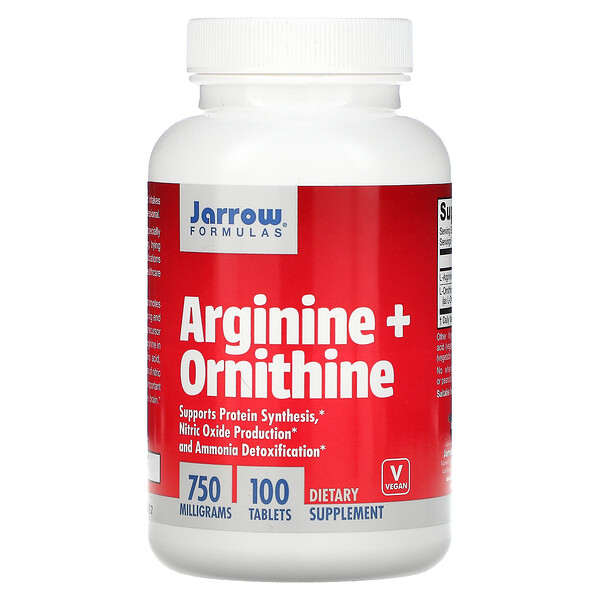 Arginine + Ornithine, 750 mg, 100 Tablets