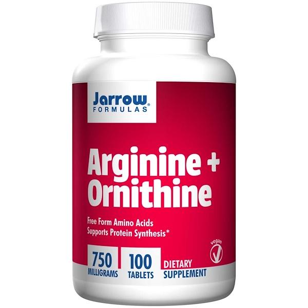 Jarrow Formulas, アルギニン + オルニチン, 750 mg, 100 Easy-Solv 粒