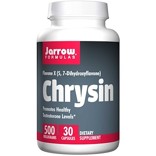 Jarrow Formulas, Chrysin, 500 mg, 30 Capsules