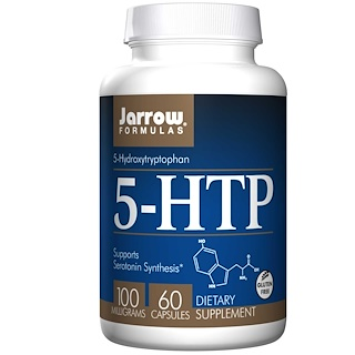 Jarrow Formulas, 5-HTP, 100 mg, 60 カプセル