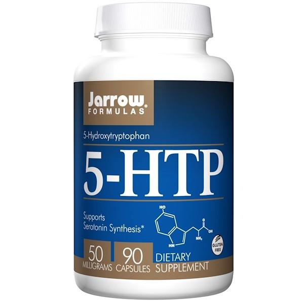 Jarrow Formulas, 5-HTP,5-羥色氨酸素食膠囊,50毫克,90粒