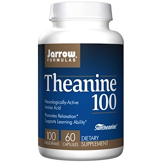 Jarrow Formulas, Theanine 100, 100 mg, 60 Veggie Caps