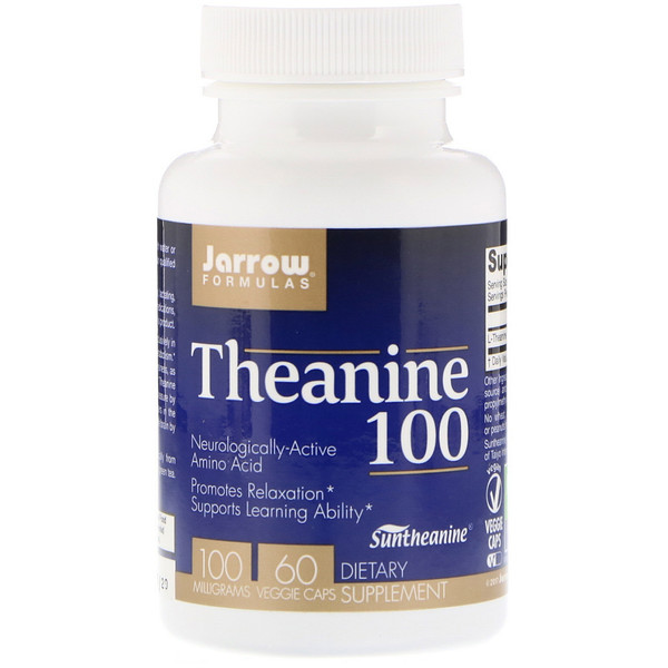 Theanine 100, 100 mg, 60 Veggie Caps