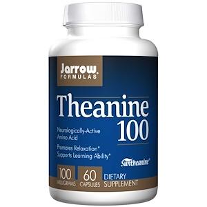 Jarrow Formulas, テアニン100, 100 mg, 60カプセル