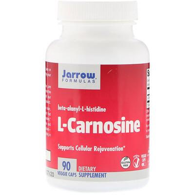Купить L-карнозин, бета-аланил-L-хистидин, 500 мг, 90 капсул
