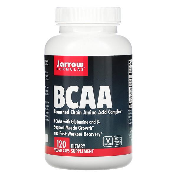 Jarrow Formulas, Complejo de aminoácido de cadena ramificada (BCAA), 120cápsulas vegetales (Discontinued Item)