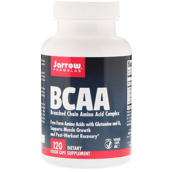 Jarrow Formulas, BCAA, Branched Chain Amino Acid Complex, 120 Veggie Caps
