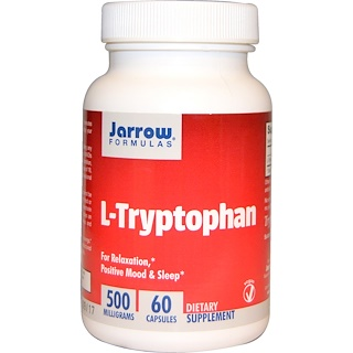 Jarrow Formulas, L-Tryptophan, 500 mg, 60 Veggie Caps