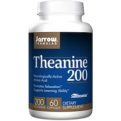 Jarrow Formulas, Theanine 200, 200 mg, 60 Veggie Caps