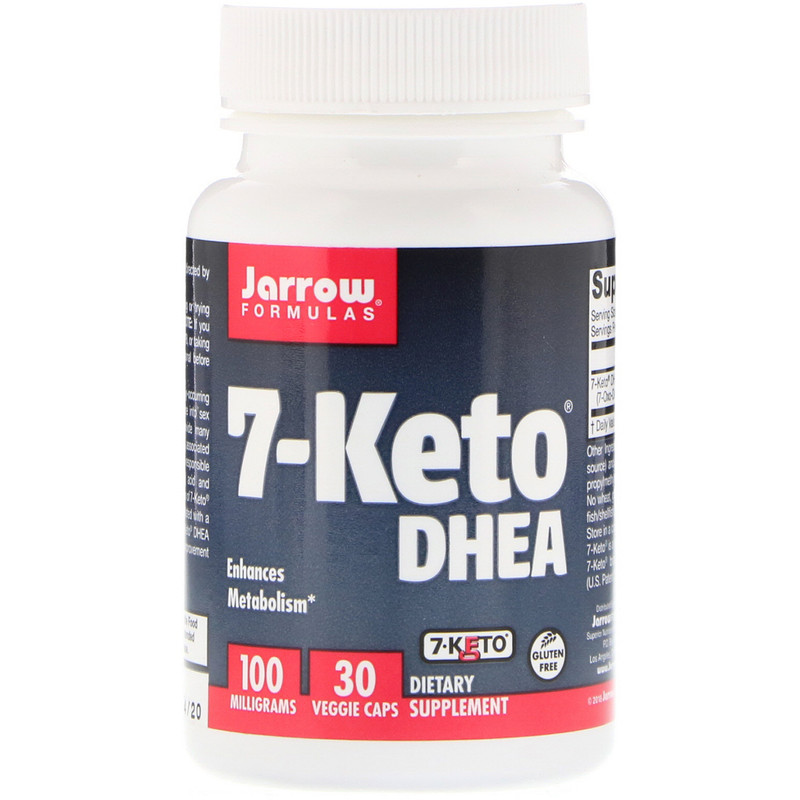 Jarrow Formulas, 7-Keto DHEA, 100 mg, 30 Veggie Caps