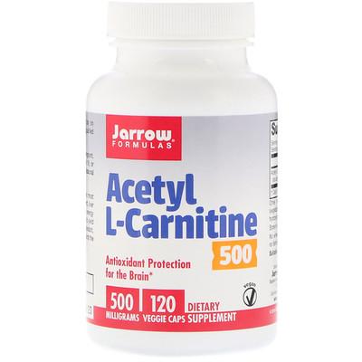 Купить Ацетил L-карнитин 500, 500 гм, 120 растительных капсул
