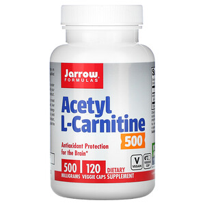 джэрроу формулас, Acetyl L-Carnitine, 500 mg, 120 Veggie Caps отзывы