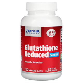 Jarrow Formulas, Glutathione Reduced, 500 mg, 120 Veggie Caps