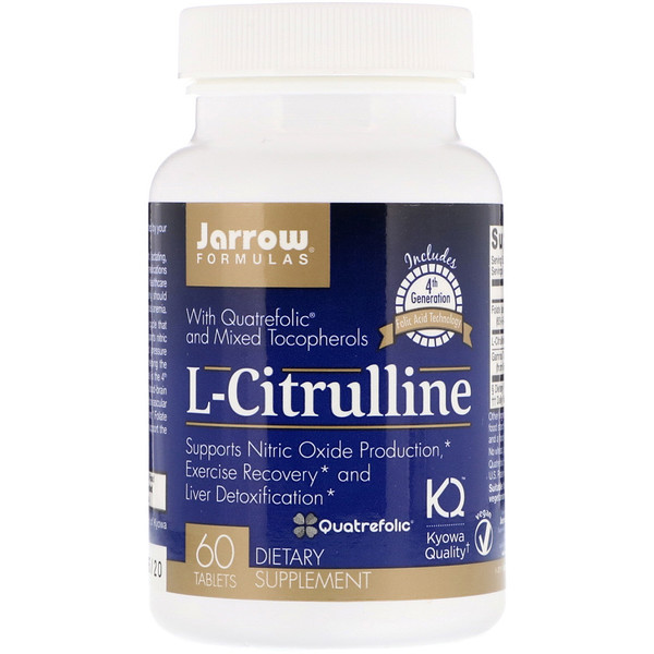 Jarrow Formulas, L-Citrulline, 60 Tablets