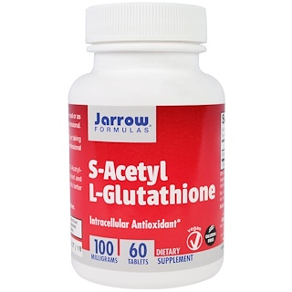 Jarrow Formulas, S-ацетил-L-глутатион, 100 мг, 60 таблеток
