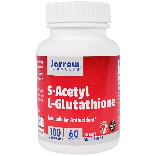 Jarrow Formulas, S-乙酰基L-穀胱甘肽,100毫克,60粒