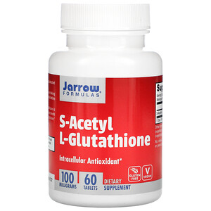 джэрроу формулас, S-Acetyl L-Glutathione, 100 mg, 60 Tablets отзывы покупателей