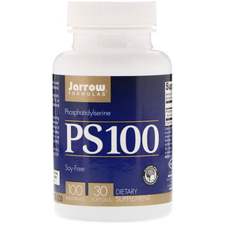 Jarrow Formulas, PS 100, Phosphatidylserine, 100 mg, 30 Softgels