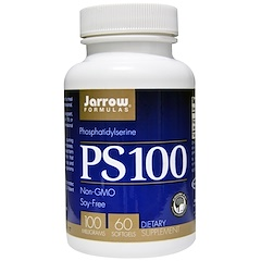 Jarrow Formulas, PS 100, 포스파티딜세린(Phosphatidylserine), 100 mg, 60 소프트젤