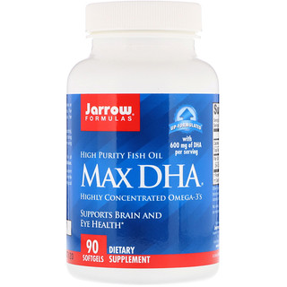 Jarrow Formulas, Max DHA, 90 Softgels