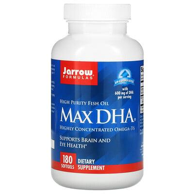 Купить Jarrow Formulas Max DHA, 180 мягких таблеток