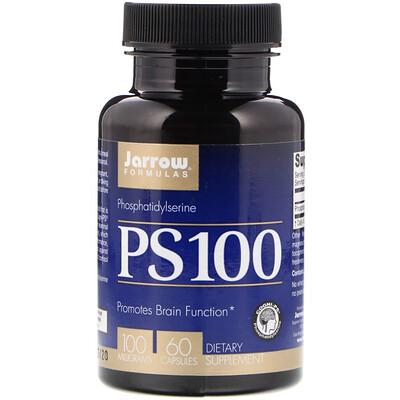 PS 100, фосфатидилсерин, 100 мг, 60 капсул толстовка playtoday playtoday mp002xg00f4h
