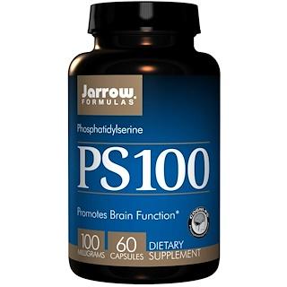 Jarrow Formulas, PS-100, 포스파티딜세린, 100 밀리그램, 60 캡슐