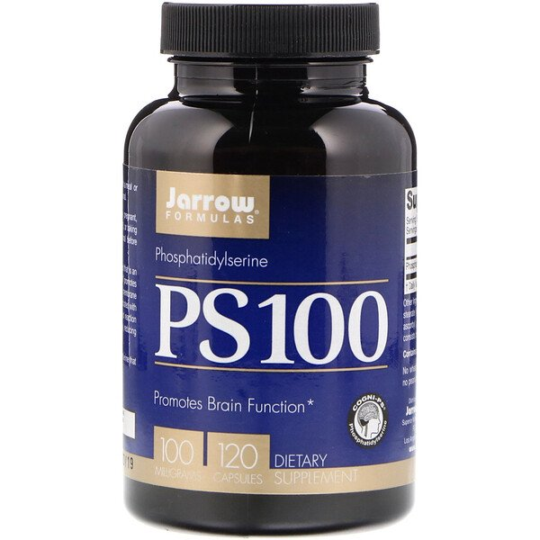 Jarrow Formulas, PS 100، فوسفاتي-ديلسيرين، 100 مجم، 120 كبسولة