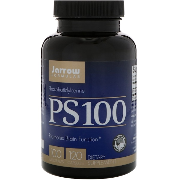 Jarrow Formulas, PS-100, 磷脂酰絲氨酸, 100 毫克, 120粒