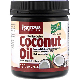 Jarrow Formulas, Organic Coconut Oil, Expeller Pressed, 16 fl oz (473 g)
