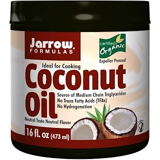 Jarrow Formulas, Organic Coconut Oil, 16 oz (473 g)