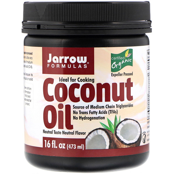 Jarrow Formulas, Organic Coconut Oil, 16 fl oz (473 g)