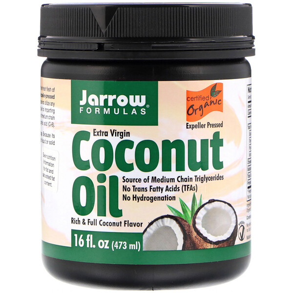 Jarrow Formulas, Organic, Extra Virgin Coconut Oil, 16 fl oz (473 g)